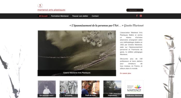 Site internet Martenot Arts Plastiques